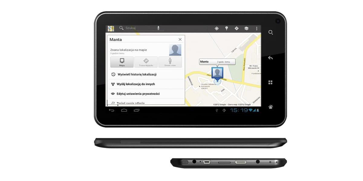 Manta Power Tab MID12 GPS Specyfikacja