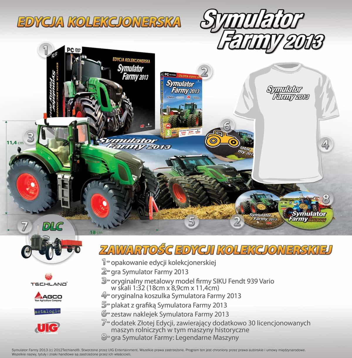 Symulator Farmy 2013 Skład Edycji Kolekcjonerskiej