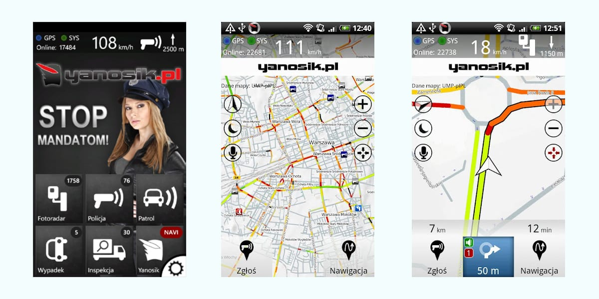 Yanosik Windows Phone 8 - opinie
