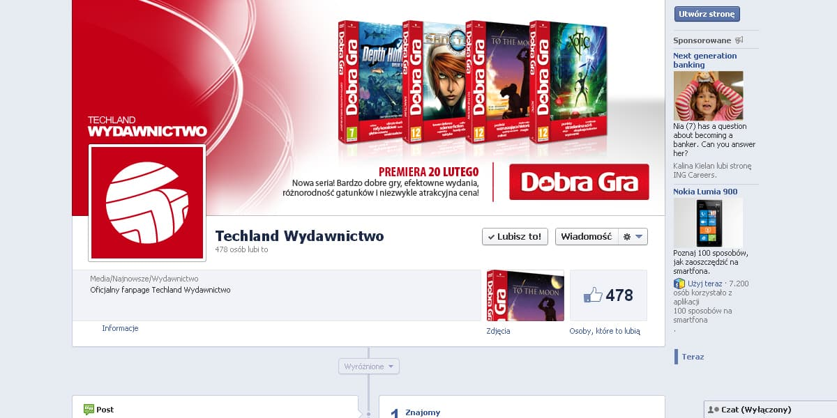 Wydawnictwo Techland Facebook