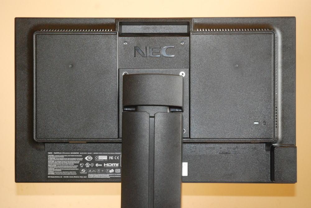 NEC EA224WMi widok tył