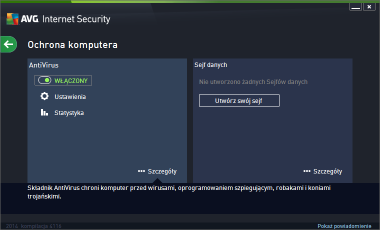 AVG Internet Security 2014 ochrona pc