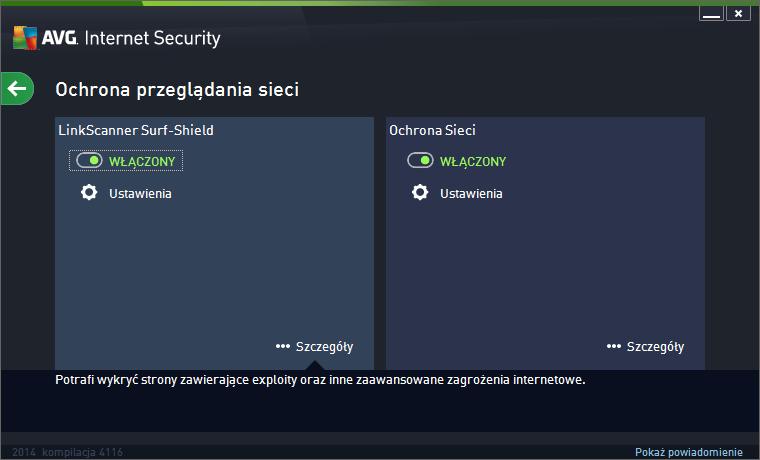 AVG Internet Security 2014 ochrona przegladania sieci
