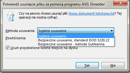 AVG Internet Security 2014 shredder