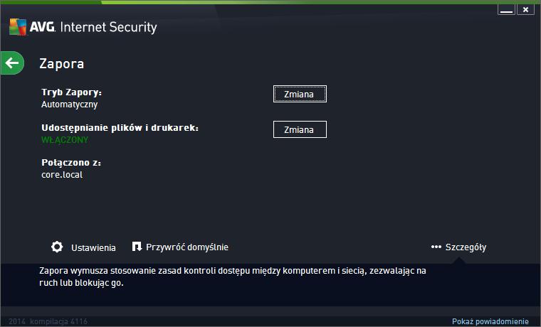 AVG Internet Security 2014 zapora