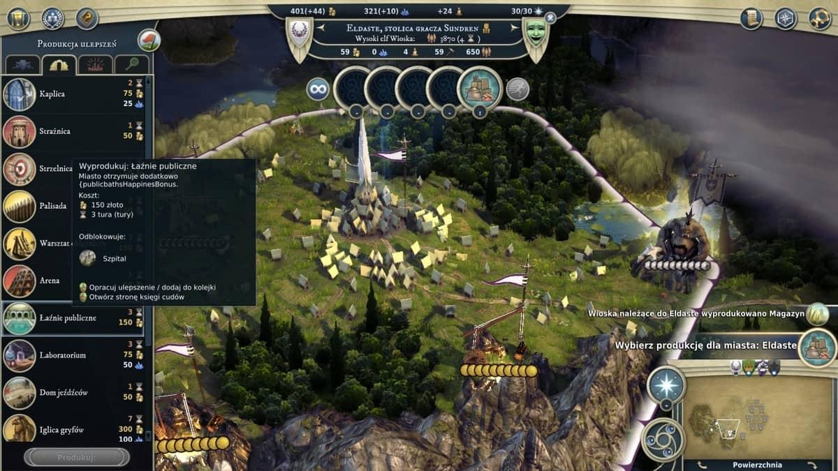 Age of Wonders III budowanie