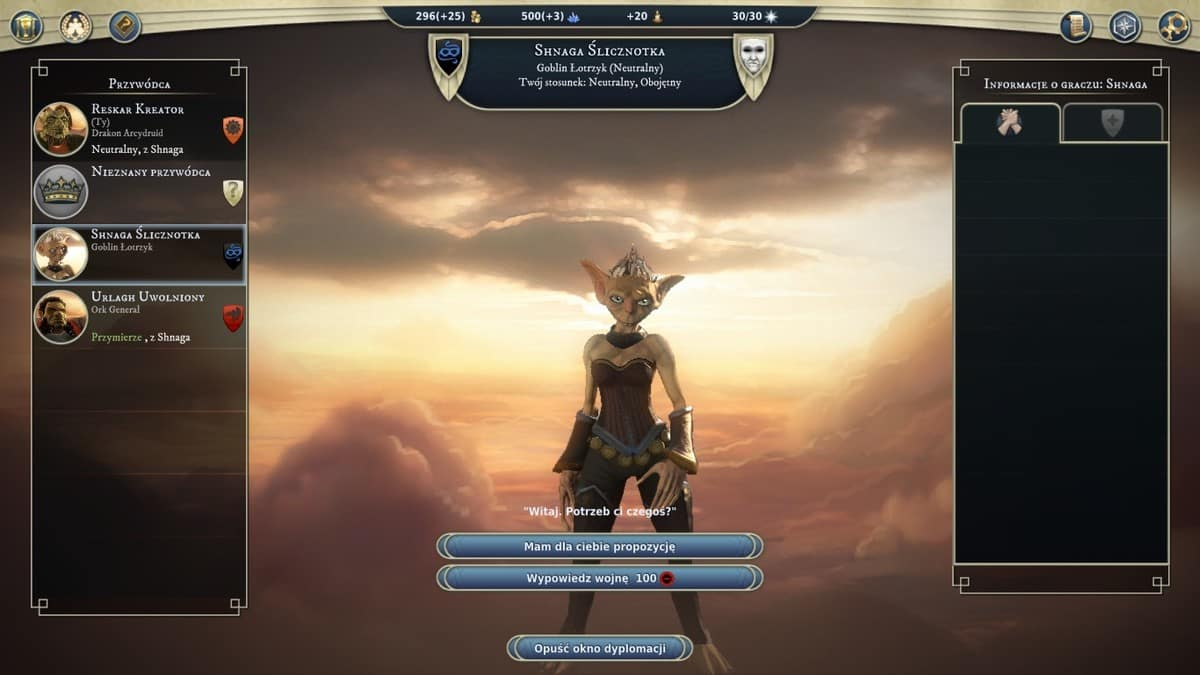 Age of Wonders III dyplomacja
