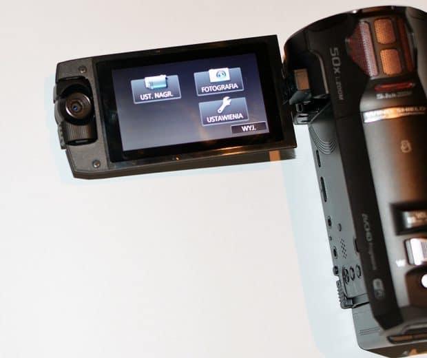 Panasonic HC-W850 ekran