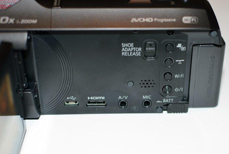 Panasonic HC-W850 złącza